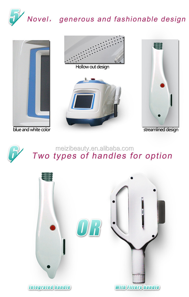 Fda approved salon use beauty instrument ipl handpiece hair removal laser machine