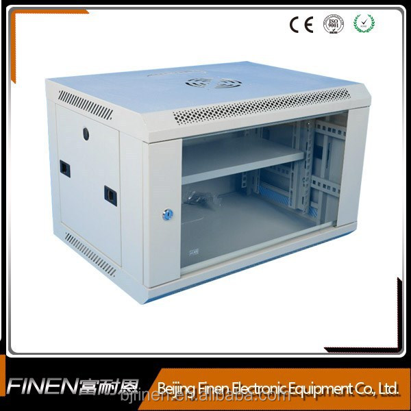 12U wall mounted network cabinet server rack with lock and glass door