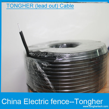 Double insulated lead out cable for electric fence accessories ...