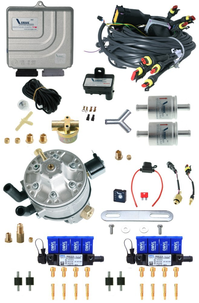 VERSUS LPG KIT 8 CILL. AUTOGAS SEQUENTIAL INJECTION LPG 8 CYLINDER KIT OMVL INJECTORS