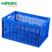 collapsible plastic moving folding crate with lid