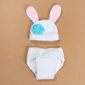 FREE Shipping by DHL FEDEX  SF Baby Bunny Rabbit Hat and Diaper Cover Set 421524fea597