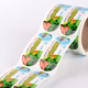 Custom Refrigerator Food Label Sticker Paper Bottle Cup Seal Printing Sticker Roll maker
