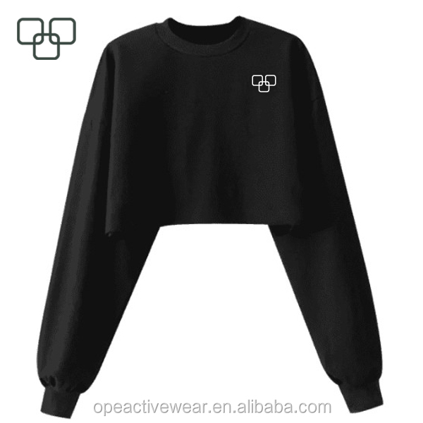 Ladies Hot Black Long Sleeve Yoga Fitness Sexy Crop Top