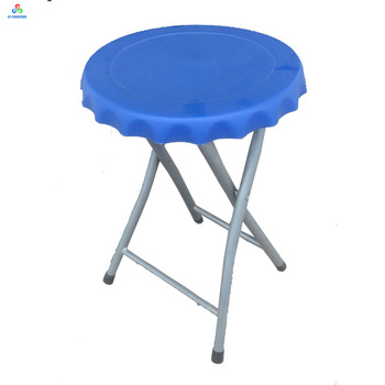 Low Price Round Plastic Bar Stools Foldable Chairs With Bottle Cap Shape  Design   Buy Bottle Cap Shape Bar Stool Chairs,Folding Bottle Cap Stool ...