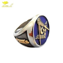 Custom Titanium Championship Rings Masonic Ring