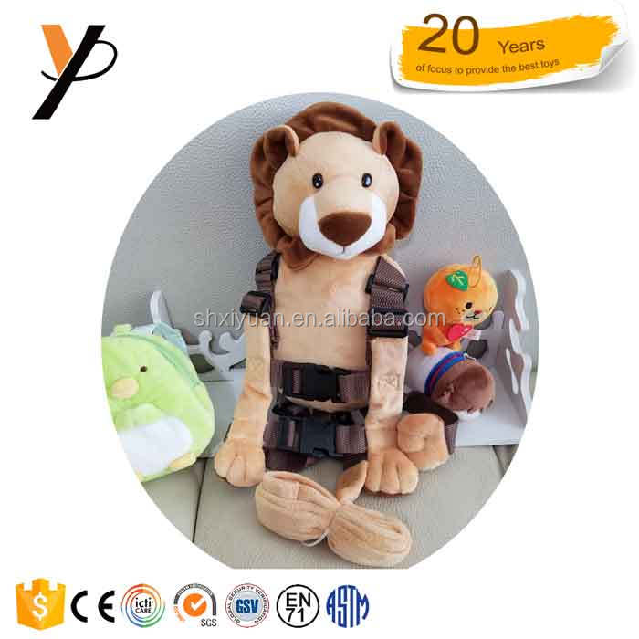 Factory good quality anti-lost lion backpacks for kids