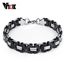 Vintage stainless steel chain hand bracelet for men jewelry chunky metal