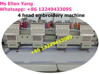 WONYO embroidery 4 heads High Speed Printing Embroidery machine for Cap/T shirt WY1204C
