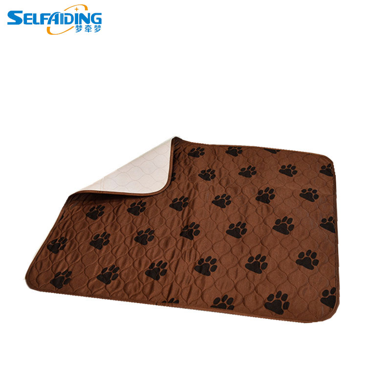 Selfaiding Dicuci Puppy Pad Potty Trainer Pet Pelatihan Bantalan