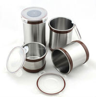 Mirror Polish 5'' Stainless Steel Kitchen Canister Sets