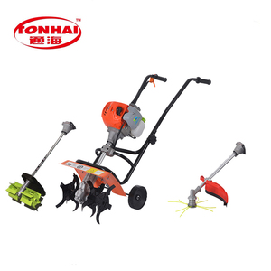 CE Approved gasoline 52CC 2-stroke agricultural rotavator mini cultivator  farm hand rotavator