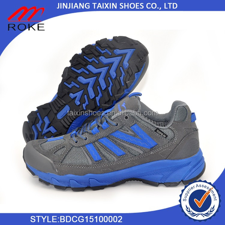 china wholesale waterproof rock mountain anti-slip men climbing shoe