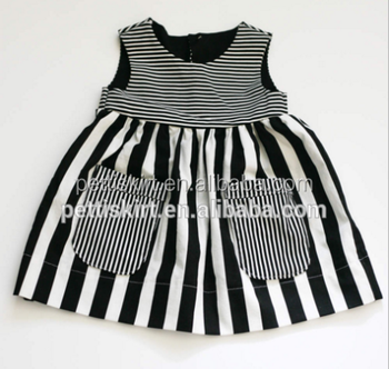 7155a41c9772 Soft Fashion Baby Cotton Frocks Designs Baby Stripe Sleeveless Dress ...