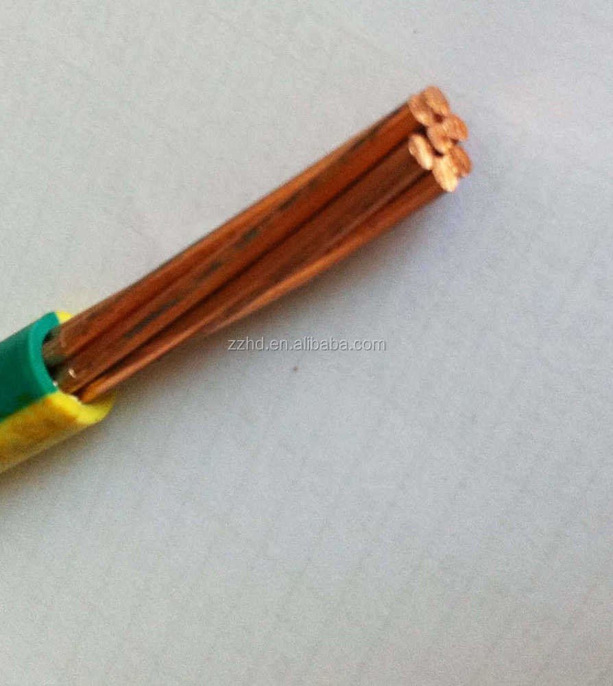 35mm2 earth cable pvc insulated ground yellow cable