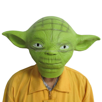 Mardi Gras Masks Halloween Party Latex Masquerade Masks Funny Scary Haunted House Best Face Yoda Mask