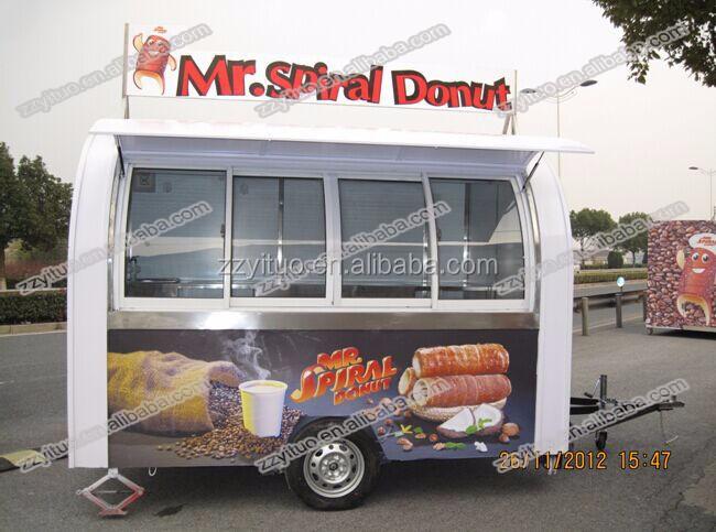 Food Truck Kebab Selling Burger Crepe Vending Cart Mobile Fry Ice Cream