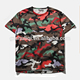 2016 fashion men camo army printing t-shirts custom t shirt wholesale H-418