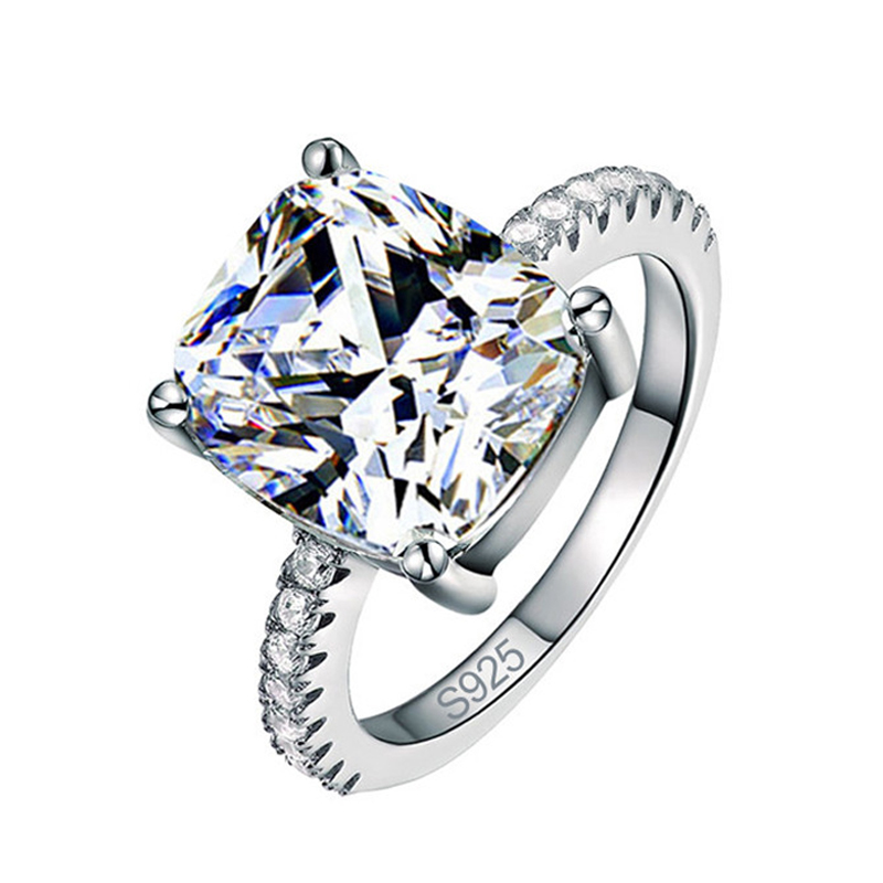 Big cubic zirconia design 925 sterling silver wedding engagement ring for women fashion finger jewelry jewellery KR1953S moonso