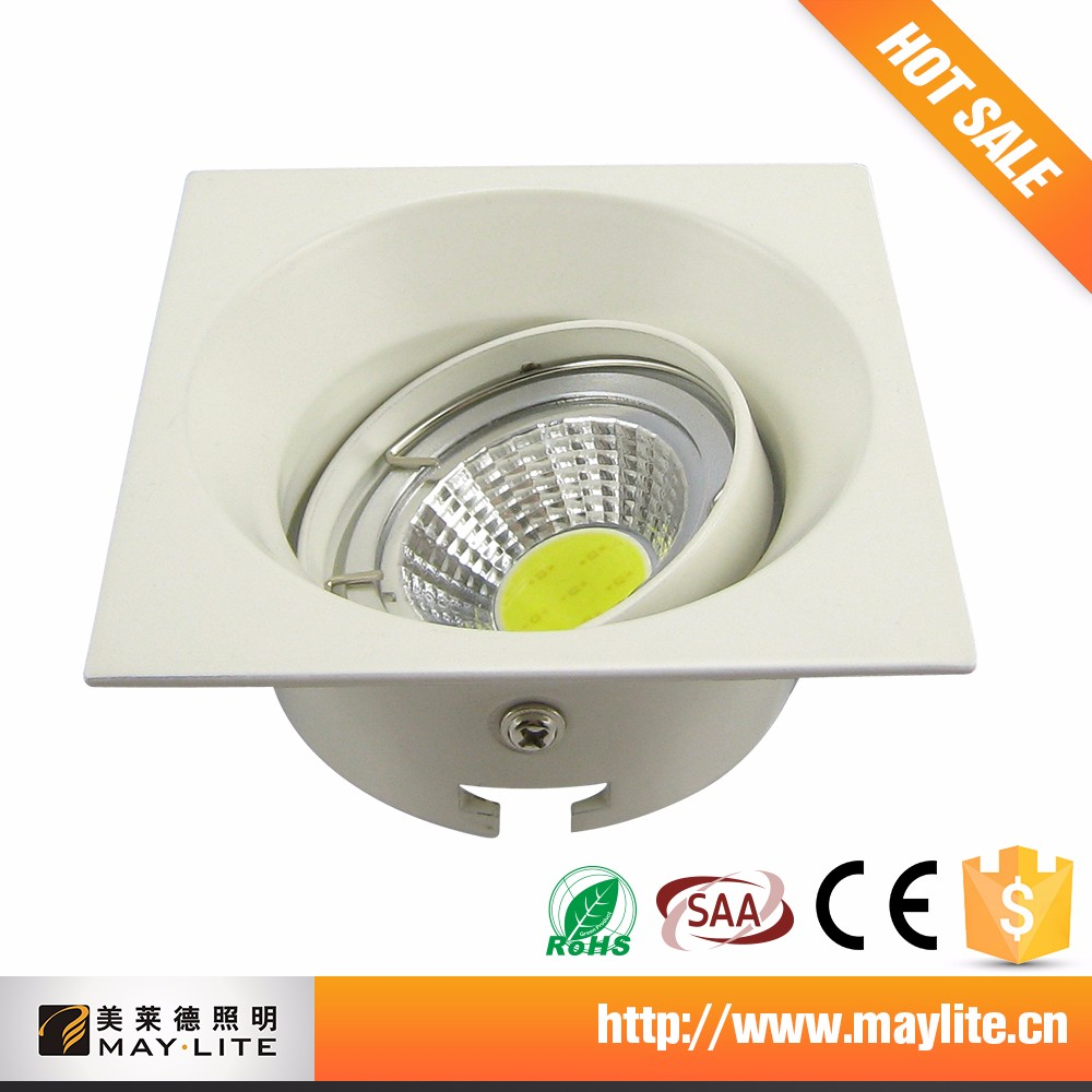 China Manufacturer Gu10 8 Inch Square Led Retrofit Recessed Downlight