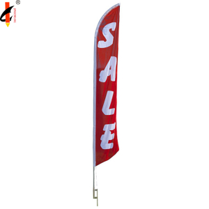 Flying american feather 100 polyester beach flag for display