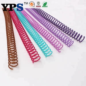 "1/4"" -2 "" PET Plastic Spiral Wire Binding Rings Binding Coil For Notebook"