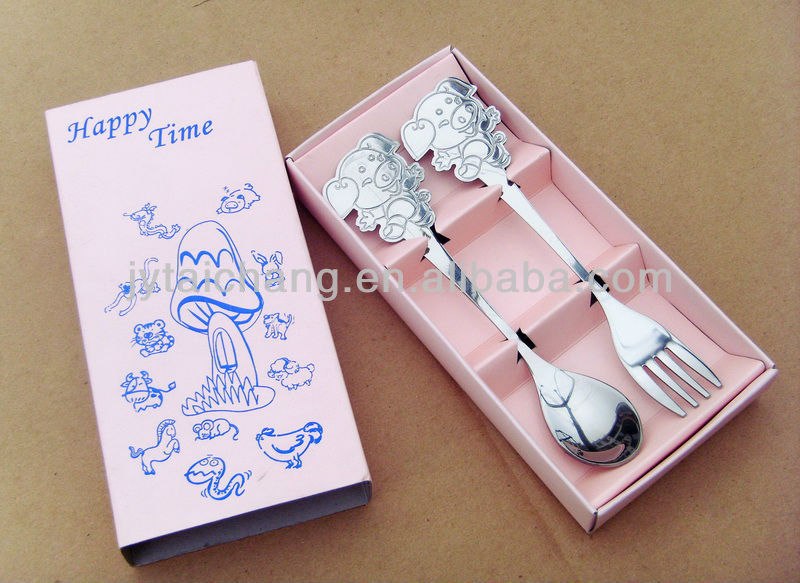 high quality stainless steel gift spoon and fork set