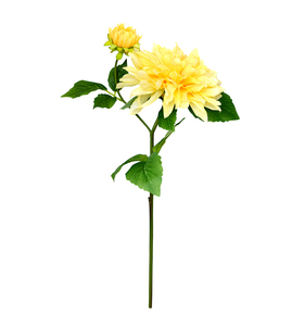 Dahlia Artificial flower Wholesale for Thanksgiving Day wedding home decorative real touch 50CM single