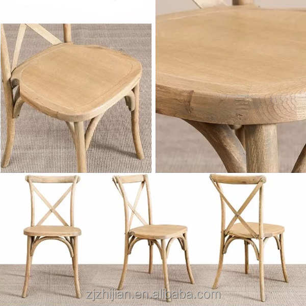 Stacking Chair Beech Wood Stackable Cross Back Chair ZJC31