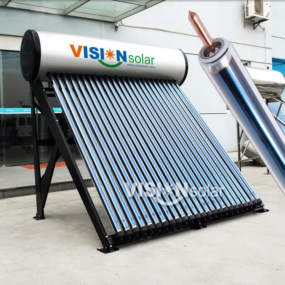 Pressurized Heat Pipe Solar Water Heating System Stainless Inner ...