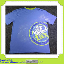 custom prined combed cotton t shirt for promotion workwear uniform