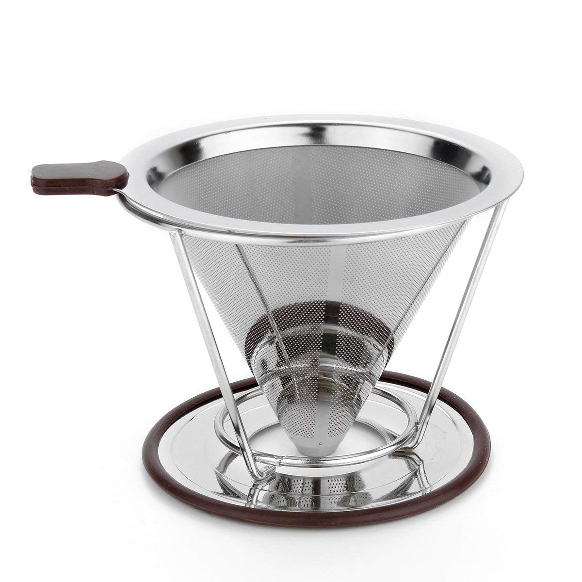UL 115mm Stainless Steel Coffee Filter with Cup Stand