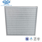 Cardboard/ Aluminum/ Galvanized Frame Pre Polyester Pleated Panel Air Filter With Wire Mesh