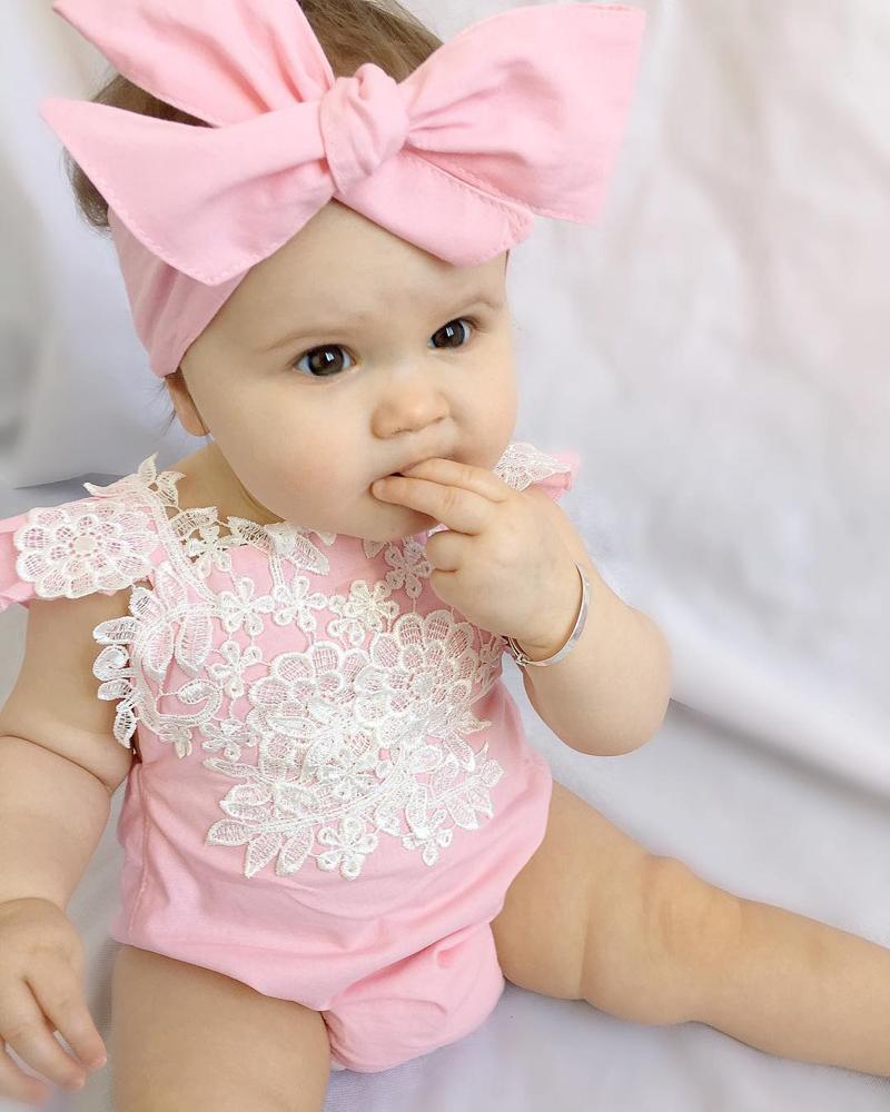 mameluco del bebé mameluco rosado para el mameluco del bebé para la niña.  Ofrecemos el mejor precio al por mayor 3e71a02aec5