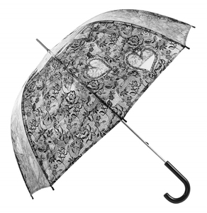Low price elegant lady girls lightweight black lace parasol knitting crochet umbrella for wedding bride