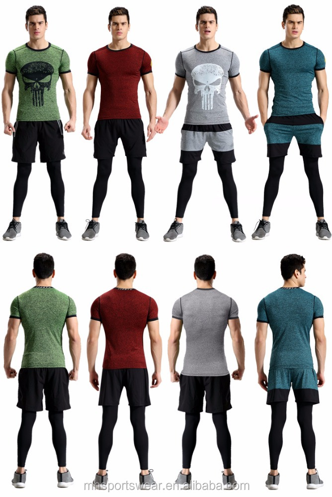 Men Sexy Nude Wear Fitness& Bodybuilding & Workout Clothes Cargo Tights for Workout Suits