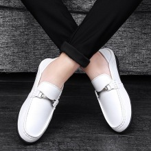 SS0220 2018 Spring fashion men casual sole driving shoes man's soft leather loafers