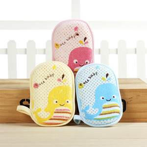 Cute cartoon baby rub back bath wipe scrubbing towel children strongly thicken exfoliate bath towel baby bath ball