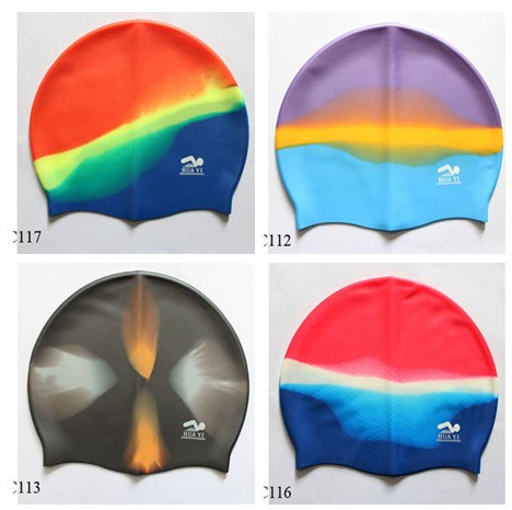 Durable fashion high quality custom waterproof silicone swim caps %100 silicone material