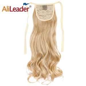 AliLeader Ombre Color Curly Synthetic Hair Ponytail For Woman