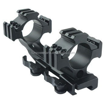 Funpowerland 30mm One Piece Triple Picatinny Rail Mount Long/Quick Release One Piece Scope Mount
