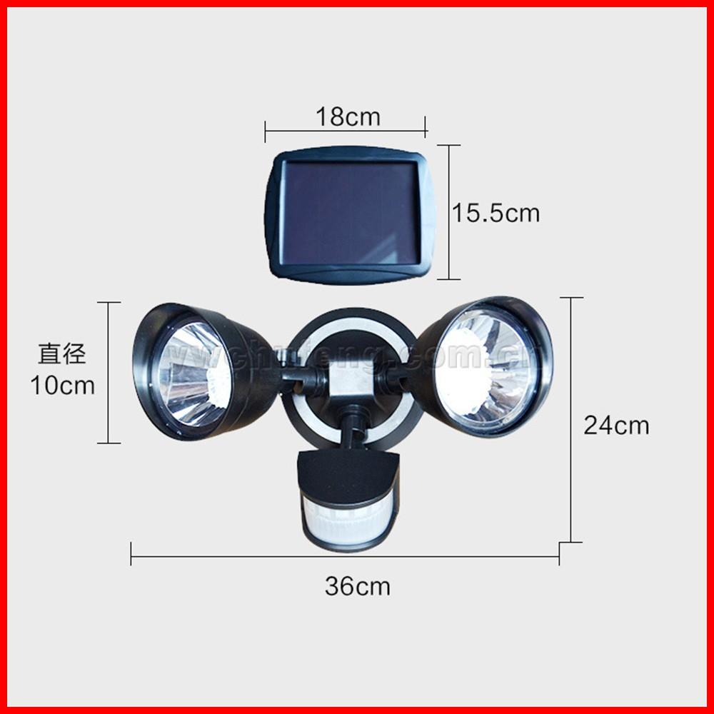 Wholesale Free Shipping! Solar Spot Light Motion Sensor Dual Lamp ...