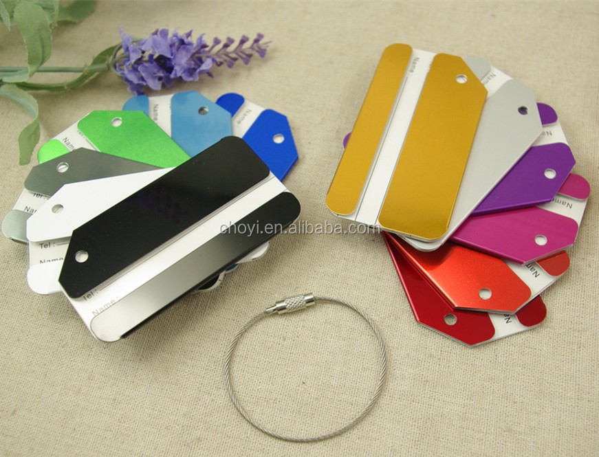 Various Color Aluminium Luggage Tag Strap Bag Tag Luggage