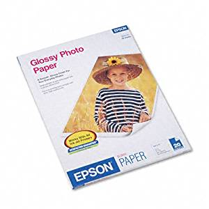 Epson : Inkjet Paper Photo Letter 20 sheets GlossyGlossy -:- Sold as 2 Packs of - 20 - / - Total of 40 Each