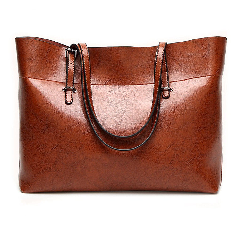 d26798782 Get Quotations · Leather Tote Bag for Women, Large Commute Handbag Shoulder  Bag Zipper Women's Work Satchel Bag