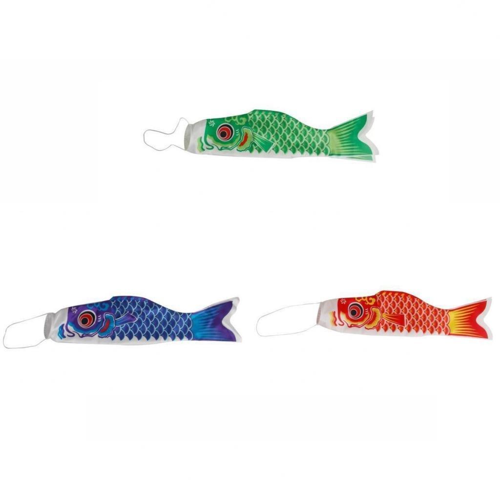 Red 100cm Koi Nobori Japanese Carp Wind Sock Koinobori Fish Flag Kite