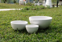Small round bowl biodegradable flower planters for balcony