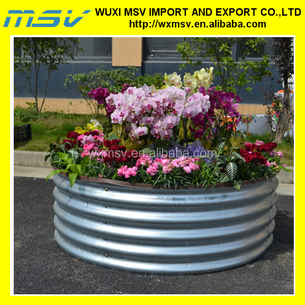 Corrugated Oval Or Round Galvanized Steel Metal Raised Garden Bed