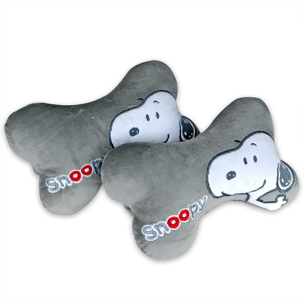 Tianmei 2PCS SNB Cartoon Styling Car Headrest Protect Neck Pillow Cartoon Travel Rest Pillow Cushion Pad (SNB - Gray Color 1 Pair)