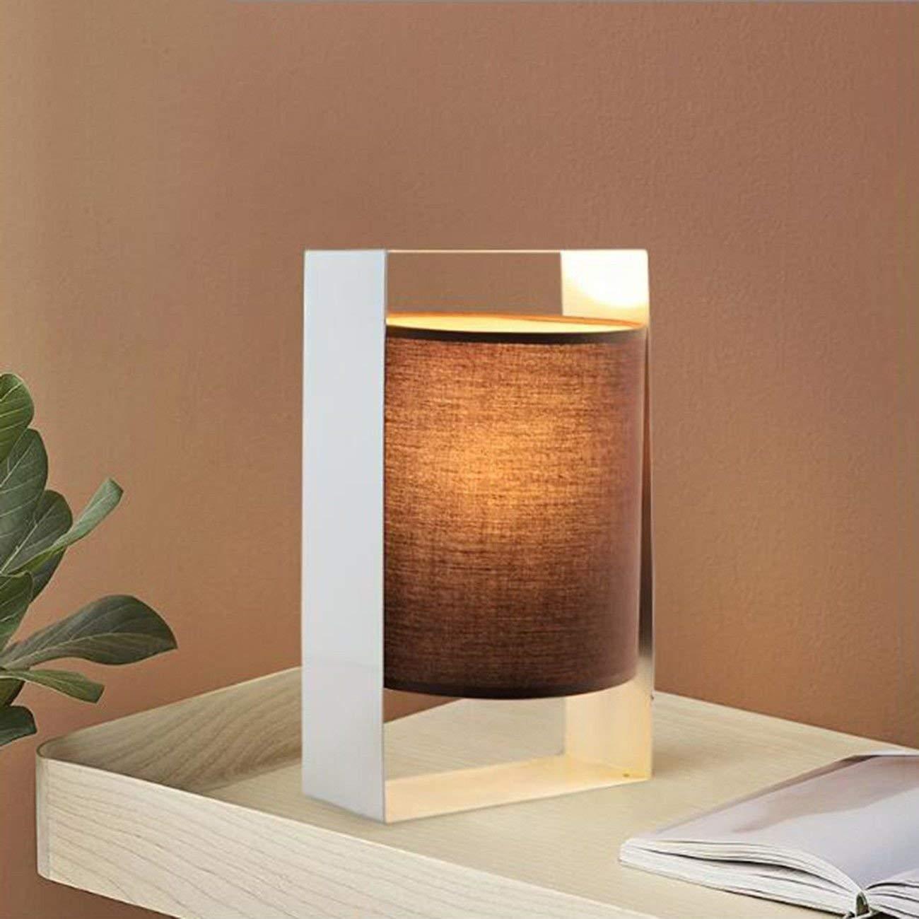 Table lamp Desk Lamp Bedroom Bedside Nordic Cloth Art Creative Personality Simple Geometric White Modern Living Room Desk Lamp,B